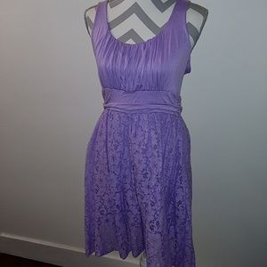 Lavender and Lace Tank Dress